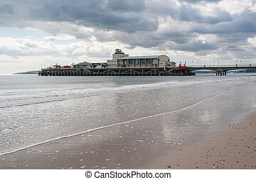 Bournemouth Pier Dorset - Beach and Pier at Bournemouth...