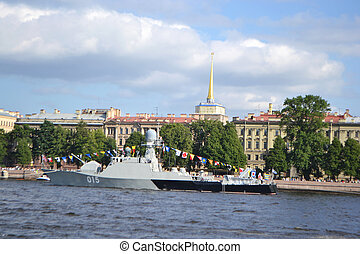 View of the River Neva in St Petersburg