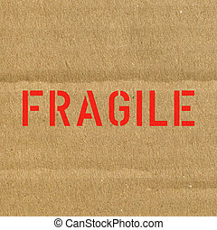Fragile corrugated cardbo