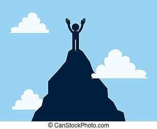 Mountain Top Figure - Figure standing on the top of a...