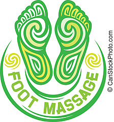 foot massage symbol foot massage design, foot massage sign