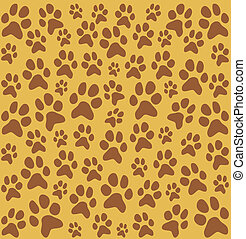 cat and dog footprint pattern