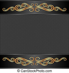 black background with golden ornaments