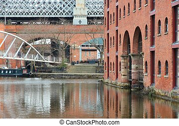 Manchester - Castlefield - Manchester - city in North West...