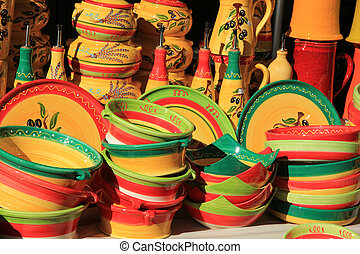Provencal pottery - Traditional patterns on Provencal...