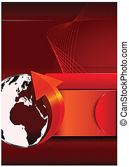 Abstract vector background with continents for brochures -...