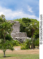 Oratory Temple of Mayan Ruins at Tulum Mexico