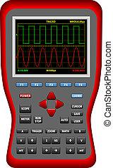 Handheld Digital Big Screen Oscilloscopes