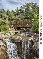 Water Falls in Vail Colorado - Betty Ford Garden Falls in...