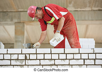 construction mason worker bricklayer - Builder construction...