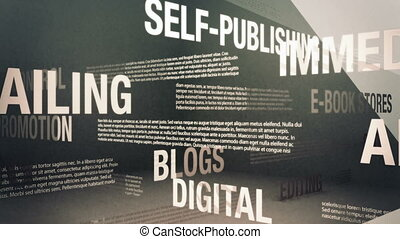 Self-Publishing Related Terms - Seamlessly looping animation...