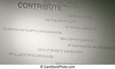 Crowdfunding Concept Animation - Crowdfunding related terms...