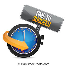 time to succeed illustration design