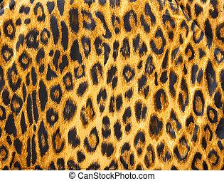 Leopardo, piel, patrón, suave, manta, material