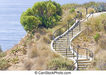 Manmade hillside stairs - Easy way to get to top or bottom...