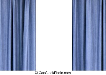 Curtains - A close up conceptual shot of hanging curtains