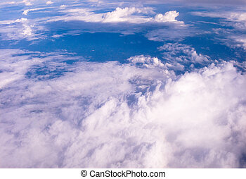 Aerial view of earth
