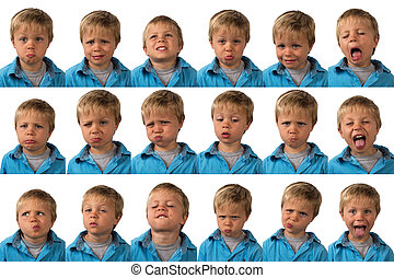 Expressions - five year old boy - A five year old boy posing...