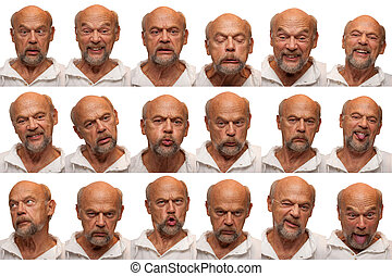 Expressions - Senior Aged Man - An older man in his sixties...