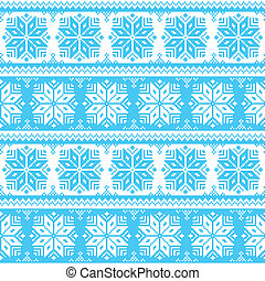Nordic seamless christmas pattern - Winter, snowflakes...
