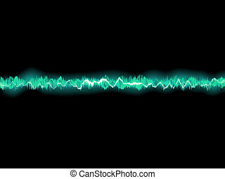 Abstract blue waveform EPS 8 vector file included