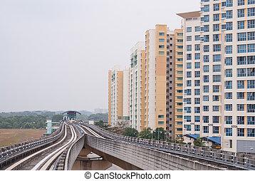 Modern residence exterior - Modern urban residence exterior...