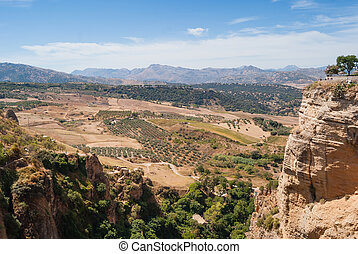 Ronda - A beautiful Landscape of Ronda, Little Town in...