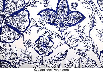 Vintage wallpaper with vignette pattern - Vintage wallpaper...
