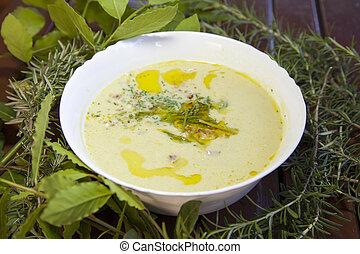 Wild asparagus creamy soup - Creamy soup, made of wild...