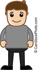 Man - Office Cartoon People Vector