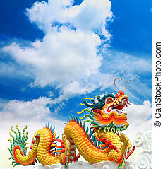 Chinese dragons statue