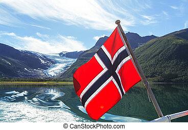 Flag on boat - flag on boat