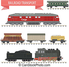 Trains. Railroad set for you design