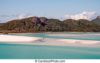 Whitehaven Beach, Queensland - Australia. Hill Inlet.