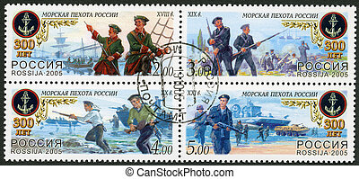 RUSSIA - CIRCA 2005: A stamp printed in Russia dedicated the...
