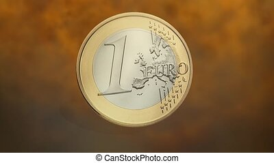 Euro Coin Animation - Animation of an Euro Coin