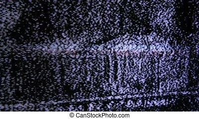 TV noise close-up