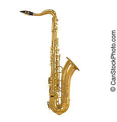 Saxophone Isolated on white background 3D render