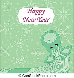 new year background with hourse - vector new year background...