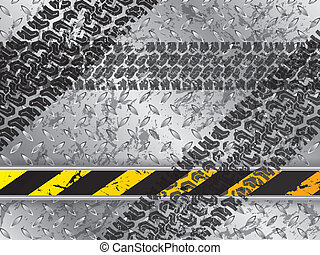 Abstract background with tire tracks