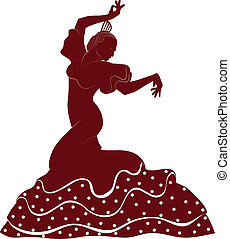 flamenco dancer - a typical spanish dancer from seville