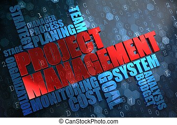 Project Management. Wordcloud Concept.