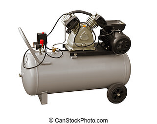 Compressor - Electric air pump on a white background