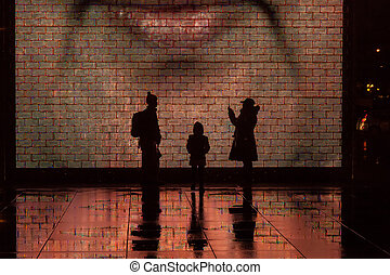 Crown Fountain is an interactive work of public art and...