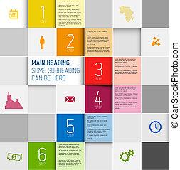 Vector squares background design illustration / steps...