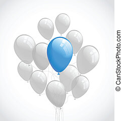Flying balloons Vector background - Flying balloons Vector...