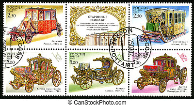 RUSSIA - 2002: dedicated the antique coaches - RUSSIA -...