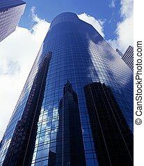 Modern skyscraper, Houston, USA. - Skyscraper with...