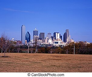 City skyline, Dallas, Texas - City skyscrapers, Dallas,...