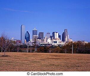 City skyline, Dallas, Texas. - City skyscrapers, Dallas,...
